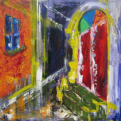 Painting - The Red Door by Khalid Alzayani