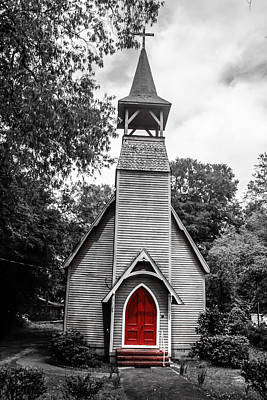 Steven Taylor Photograph - The Red Door by Steven  Taylor