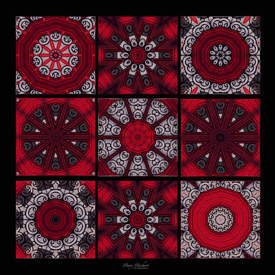 Ceramic Tile Photograph - The Red Door Tiles by Mary Machare