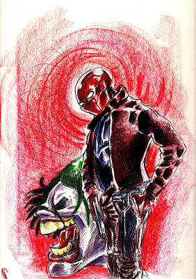 Drawing - The Red Hood by Big Mike Roate