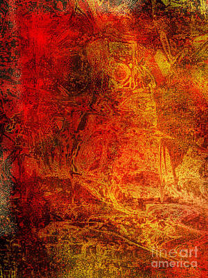 Fantasy Tapestries - Textiles Painting - The Red Knight Tapestry Part Two by Nicole Beland