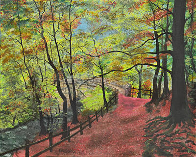 The Red Path Print by Leo Gehrtz