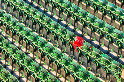 Boston Red Sox Photograph - The Red Seat At Fenway Park I by Clarence Holmes