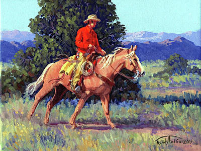 Chaps Painting - The Red Shirt by Randy Follis