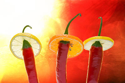 The Red - The Hot - The Chili Print by Alexander Senin