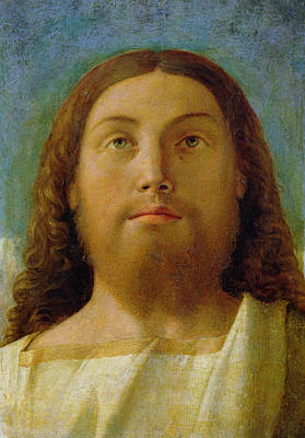 Jesus Face Painting - The Redeemer by Giovanni Bellini