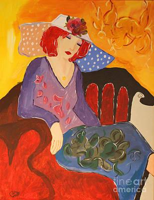 The Redhead Print by Christine  Dekkers