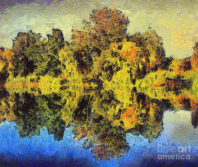 Odon Painting - The Reflections by Odon Czintos