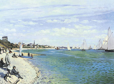 The Regatta At Sainte-adresse Print by Claude Monet