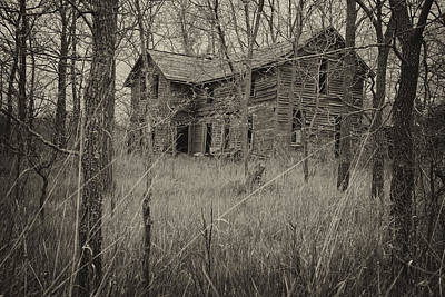 Haunted House Photograph - The House In The Woods by Mary Lee Dereske
