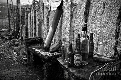 Abandoned Houses Photograph - The Remains Of That Distant Party Bw by RicardMN Photography