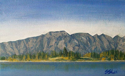 Ski Painting - The Remarkables  by Jane  See