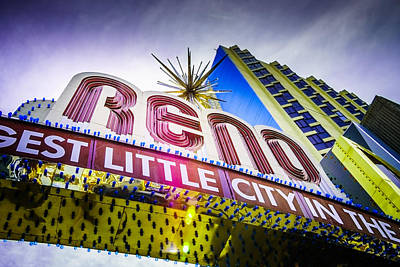 Reno Photograph - The Reno Arch by Janis Knight