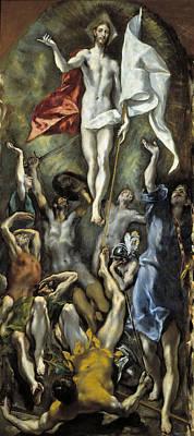 Prado Painting - The Resurrection by El Greco