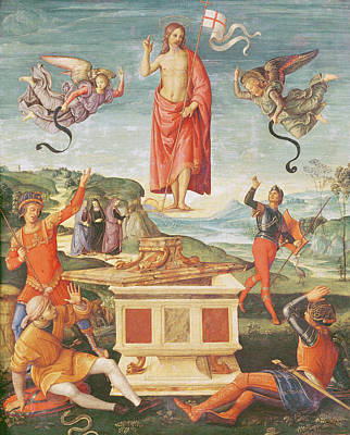 Resurrection Photograph - The Resurrection Of Christ, C.1502 Oil On Panel by Raphael