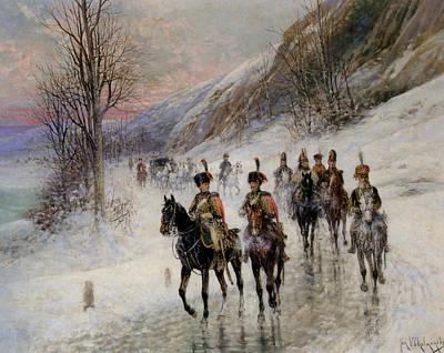 Napoleon Bonaparte Digital Art - The Retreat From Moscow by Jan Von Chelminski