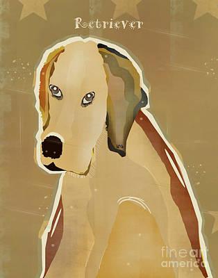 Golden Retriever Pop Art Painting - The Retriever  by Bri B