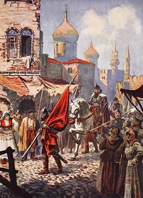 Street Drawing - The Return Of Ivan The Terrible by John Harris Valda