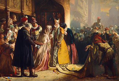 Scots Painting - The Return Of Mary Queen Of Scots To Edinburgh by Mountain Dreams