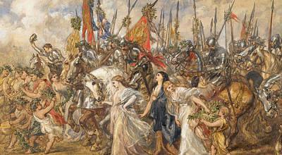The Return Of The Victors Print by Sir John Gilbert