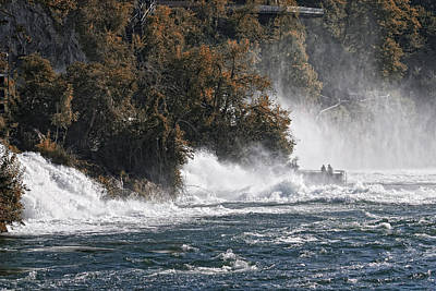 Autumn Landscape Photograph - The Rhine Fall by Joachim G Pinkawa