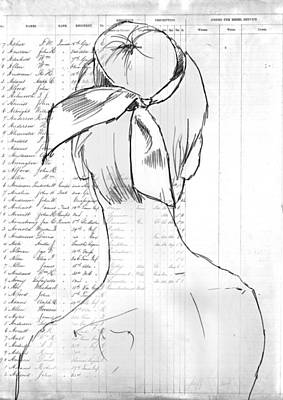 Ballet Drawing - The Ribbon by H James Hoff