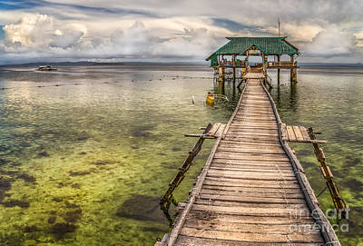 The Rickety Pier Print by Adrian Evans