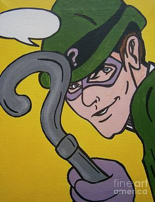 Riddler Painting - The Riddler by Neal Crossan