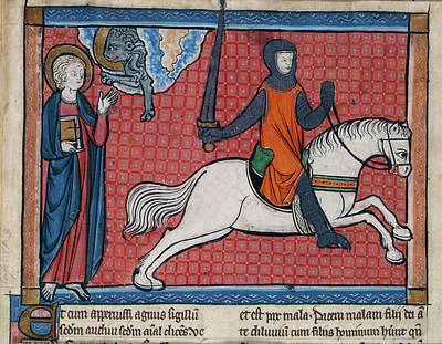 New Testament Photograph - The Rider On The Red Horse by British Library