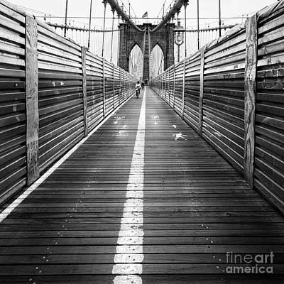 The Riders Brooklyn Bridge Print by John Farnan