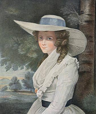 Locket Photograph - The Right Honourable Countess Spencer D.1831 Engraved By Francesco Bartolozzi 1727-1815, Pub by Sir Joshua Reynolds