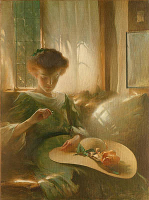 John White Alexander Painting - The Ring by John White Alexander