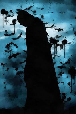 Dark Knight Rises Painting - The Rise Of Batman by Dan Sproul