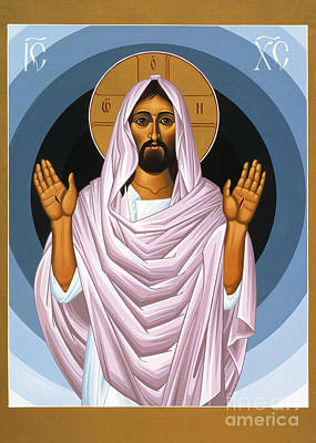 Icon Painting - The Risen Christ 014 by William Hart McNichols