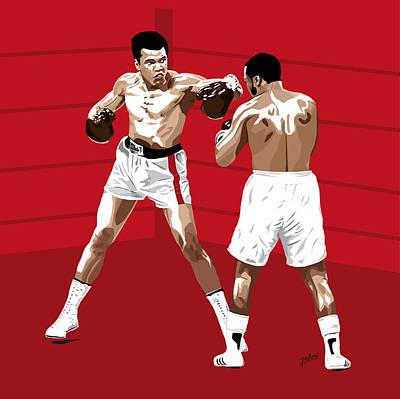 Joe Frazier Digital Art - The Rivalry - Muhammad Ali Vs Joe Frazier by Jarod