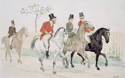 Red Fox Painting - The Rivals by Randolph Caldecott