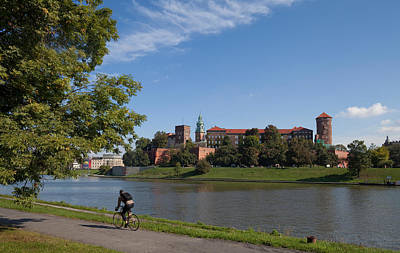 Krakow Photograph - The River Wisla Passing The 11th by Panoramic Images