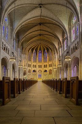 Religion Photograph - The Riverside Church by Susan Candelario