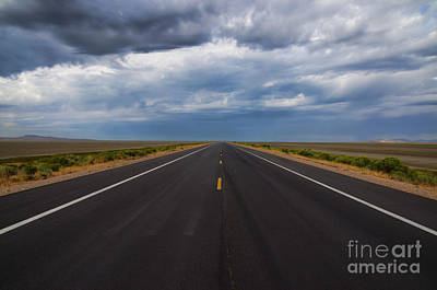 The Road To Antelope Island Print by Donna Van Vlack
