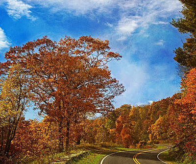 The Road To Autumn Print by Kim Hojnacki