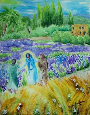 The Road To Emmaus Original by Melanie Palmer