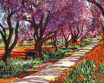 Pink Painting - The Road To Giverny by David Lloyd Glover