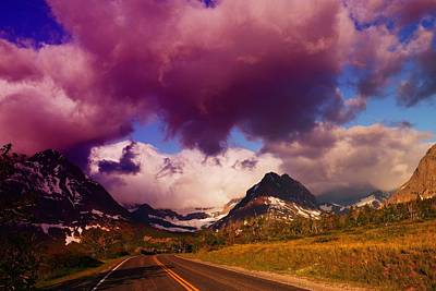 Mountain View Photograph - The Road To Glacier     by Jeff Swan