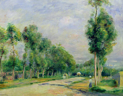 The Road To Versailles At Louveciennes Print by Pierre Auguste Renoir