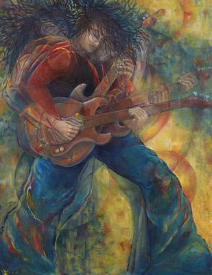 Van Halen Painting - The Rocker by Anika Ferguson