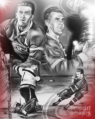 Montreal Canadiens Digital Art - The Rocket by Mike Oulton