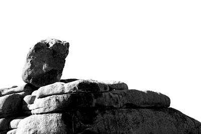 The Rocks Of Contrast Print by Carolina Liechtenstein