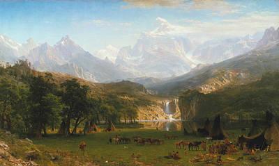 Field. Cloud Painting - The Rocky Mountains Landers Peak by Albert Bierstadt