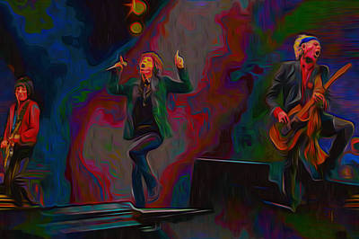 The Rolling Stones Original by  Fli Art