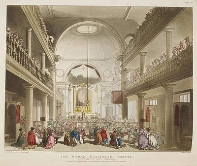 Microcosm Photograph - The Roman Catholic Chapel by British Library